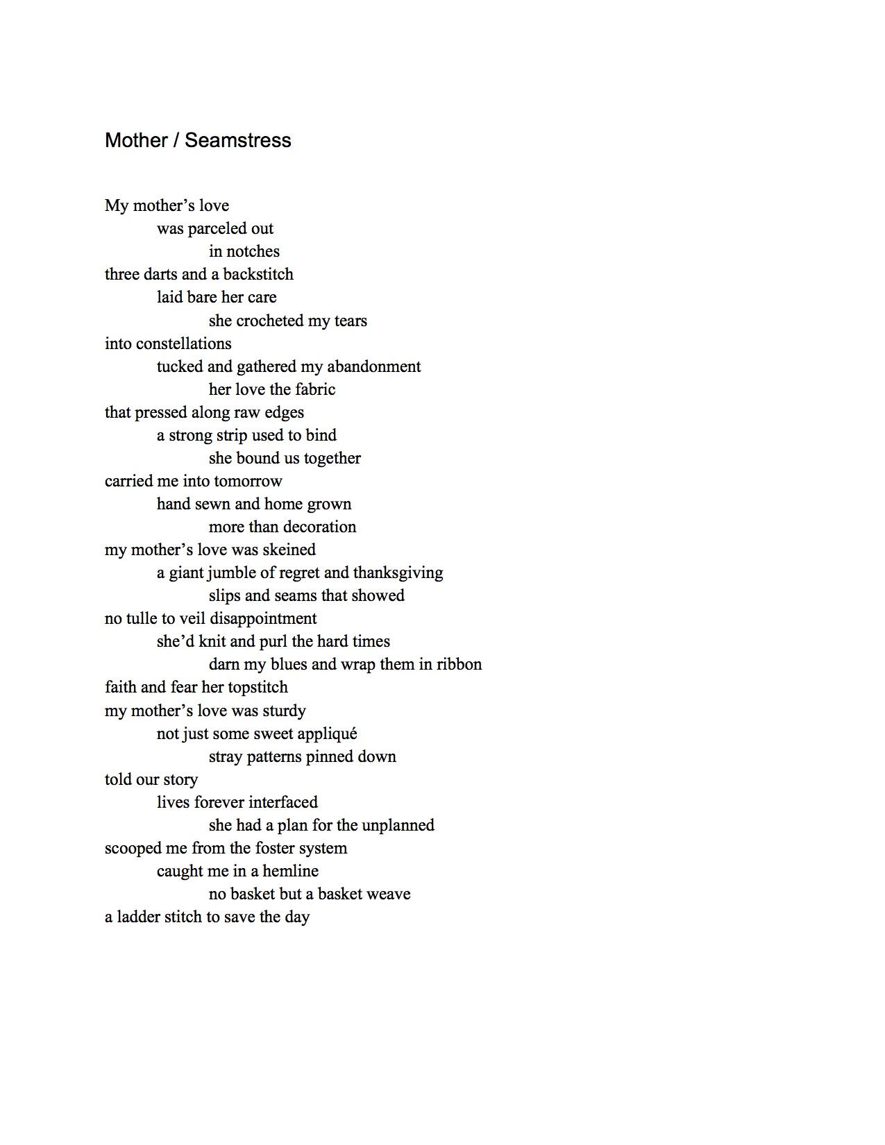 Regina Jamison – Poems